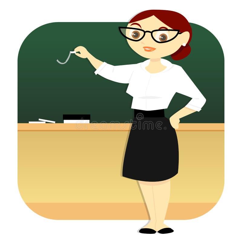 老师在教室 向量例证