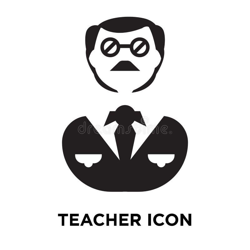 老师在白色背景隔绝的象传染媒介,商标概念o 向量例证