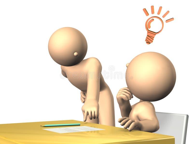 老师将忠告给学生 向量例证