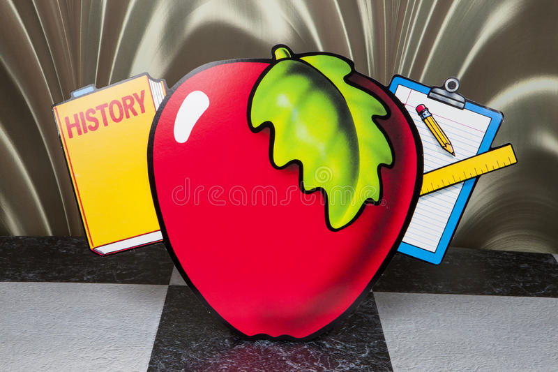 老师的苹果计算机 图库摄影