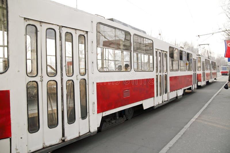 老平壤路面电车样式 免版税库存照片