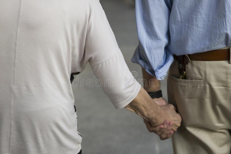 老年人在布宜诺斯艾利斯,阿根廷 库存照片