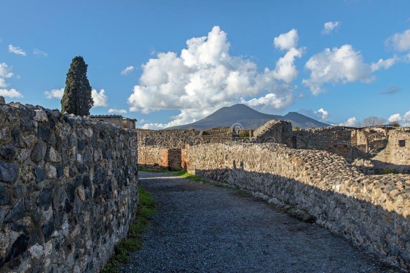 老废墟在庞贝城意大利 免版税库存图片