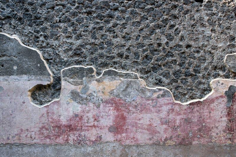 老废墟在庞贝城意大利 免版税库存照片