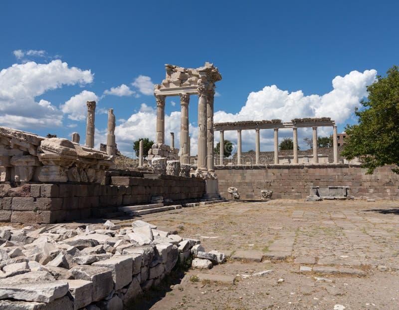 老废墟的细节在Pergamum的 库存照片
