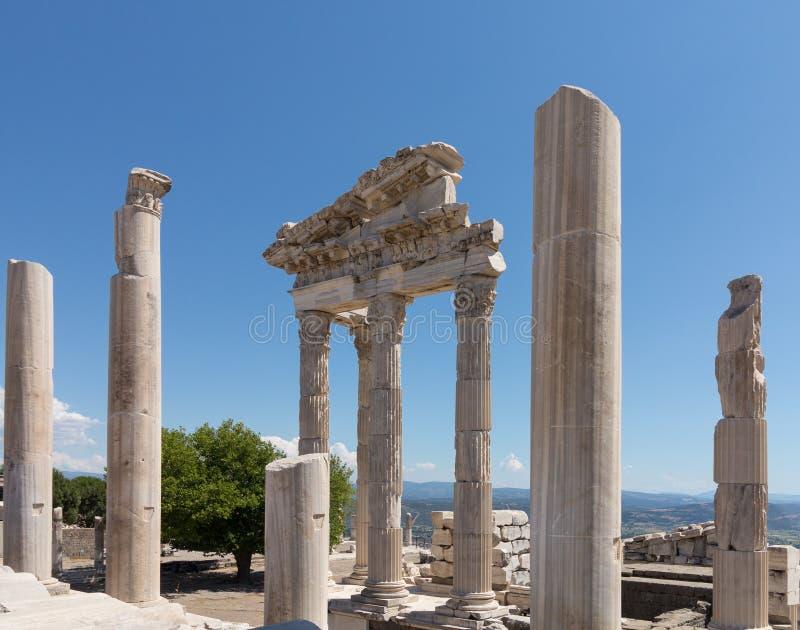 老废墟的细节在Pergamum的 免版税库存图片
