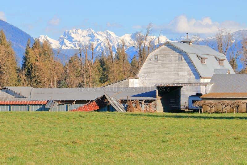 老建立的加拿大农场和大厦 免版税库存照片