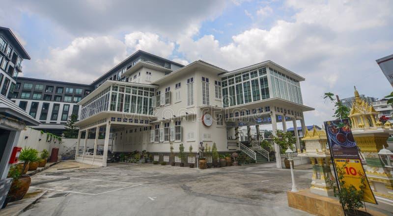 老建筑学在曼谷,泰国 免版税库存照片