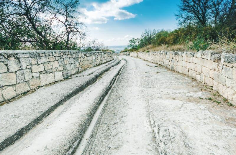 老建筑学废墟室外在克里米亚的东部 历史站点 图库摄影