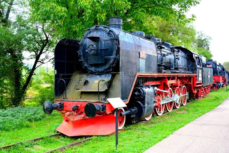 老式样机车,做在Resita 免版税库存图片