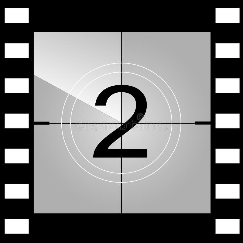 老影片电影读秒框架 向量 向量例证