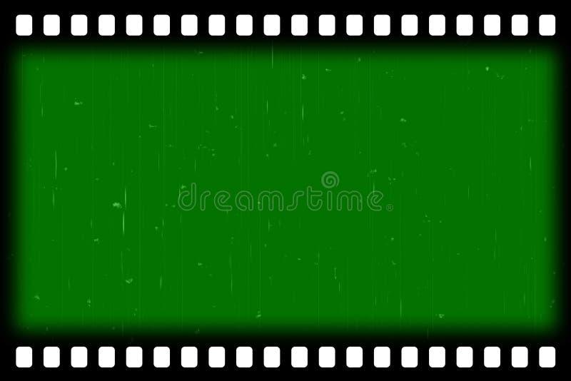 老影片镶边作用-绿色屏幕 皇族释放例证