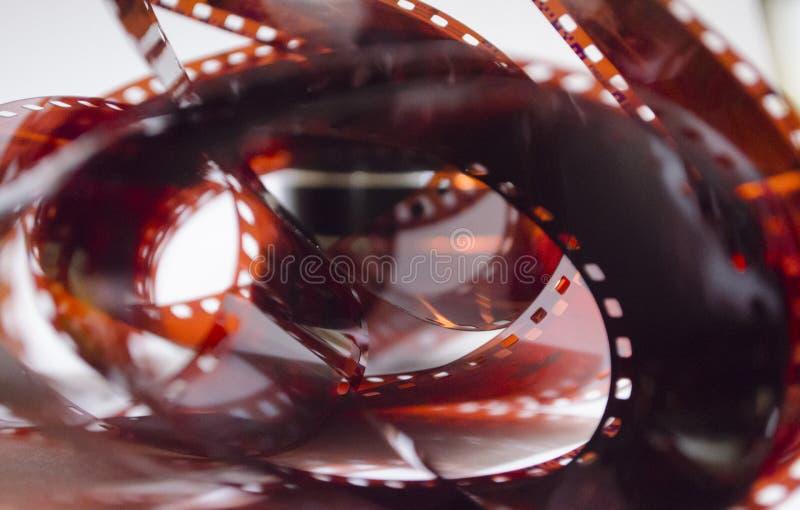 老影片,抽象,被点燃的影片 免版税库存照片