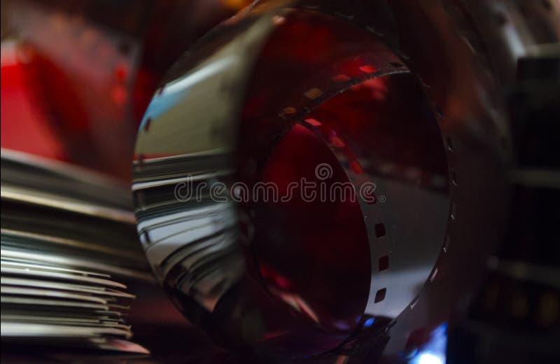 老影片,抽象,被点燃的影片 图库摄影