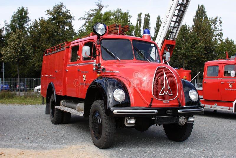 老德国消防队汽车 库存照片