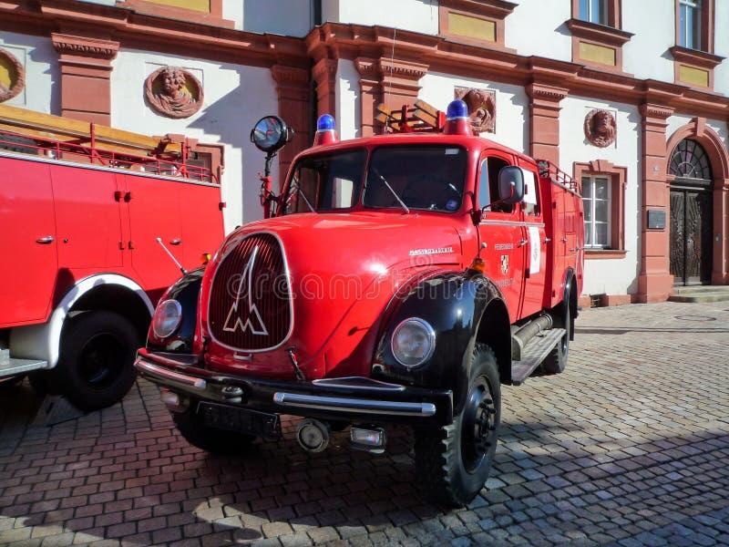 老德国消防队车的Magirus Deutz 免版税图库摄影