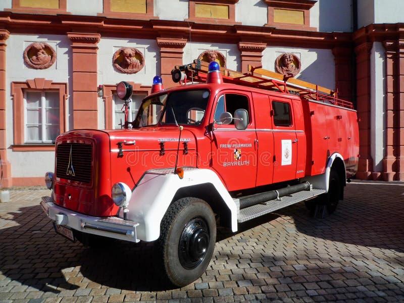 老德国消防队车的Magirus Deutz 库存照片