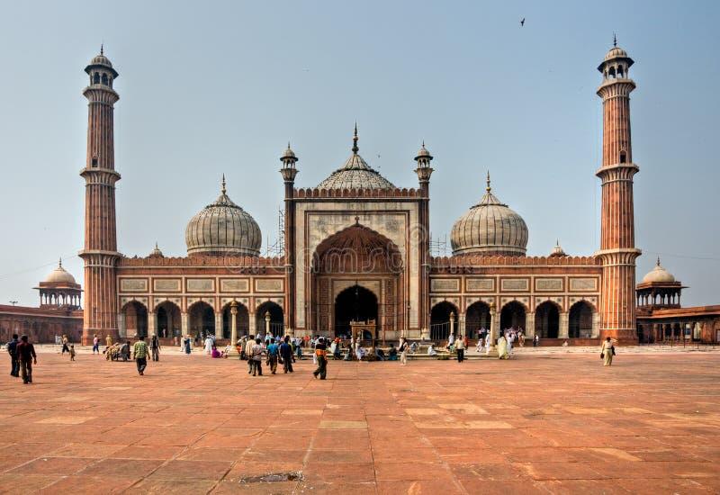 老德里印度jama masjid 免版税库存照片