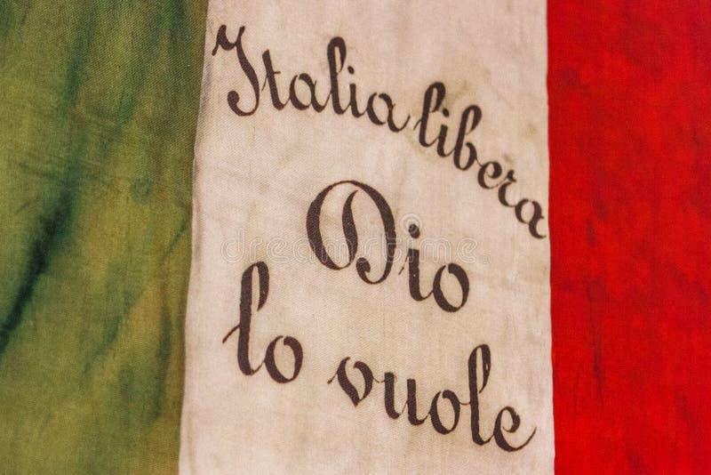 老意大利旗子说 库存照片