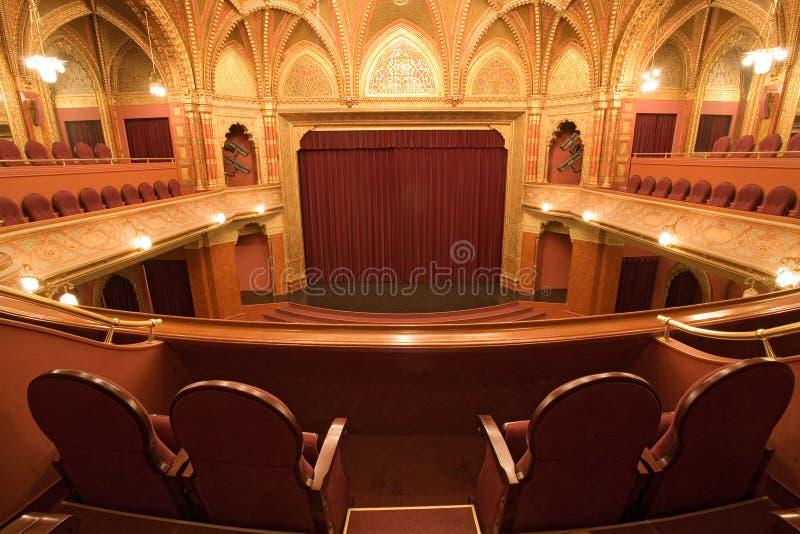 老戏院内部 免版税库存照片