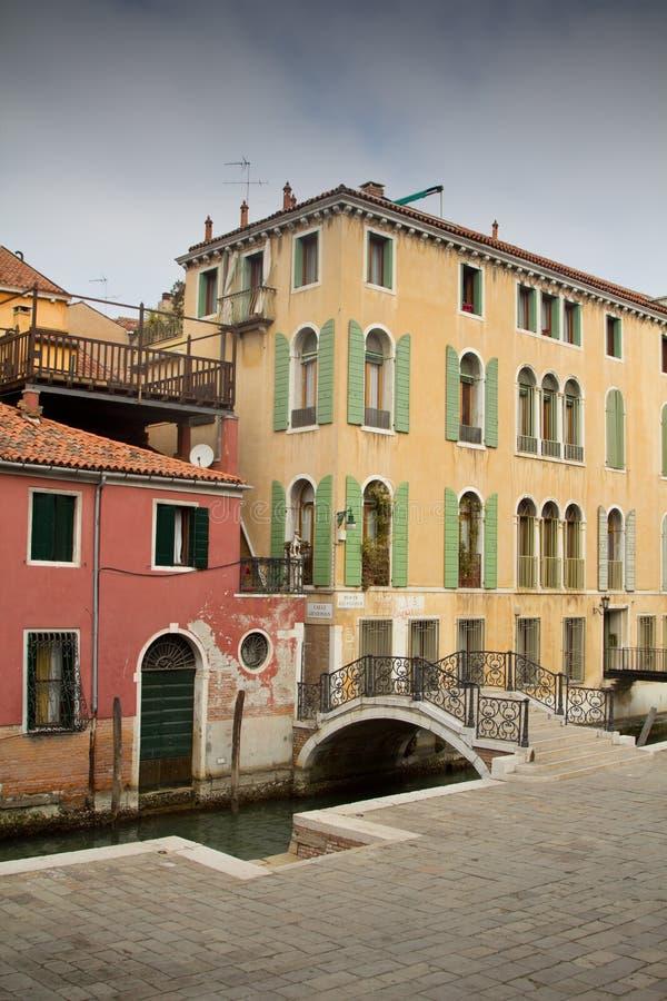 老房子在威尼斯,意大利 图库摄影