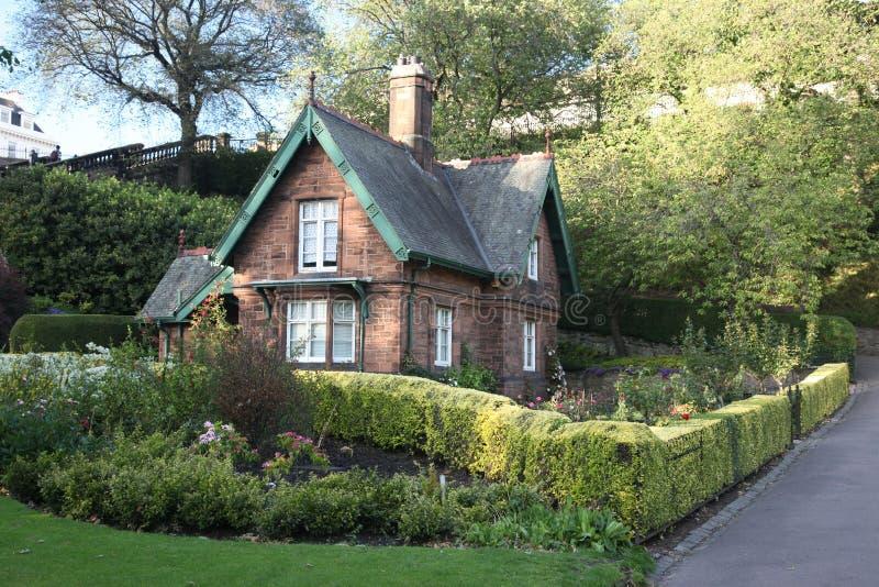 老房子在爱丁堡在苏格兰,英国 库存图片