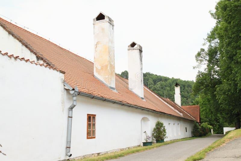 老房子在镇Zlata克朗 免版税库存图片