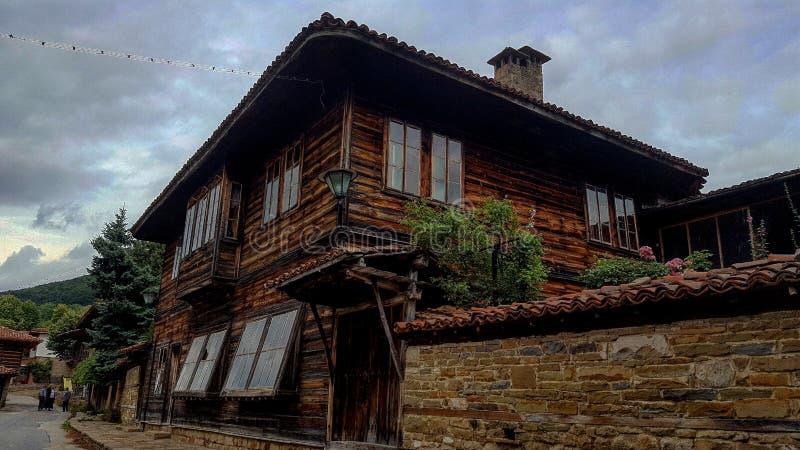 老房子在Jeravna,保加利亚 库存照片