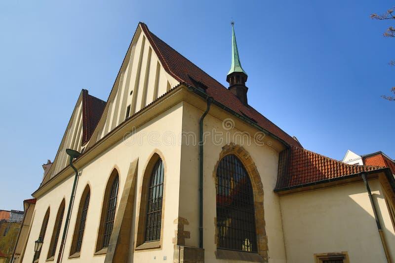 老房子的建筑学,老镇,布拉格,捷克 库存图片