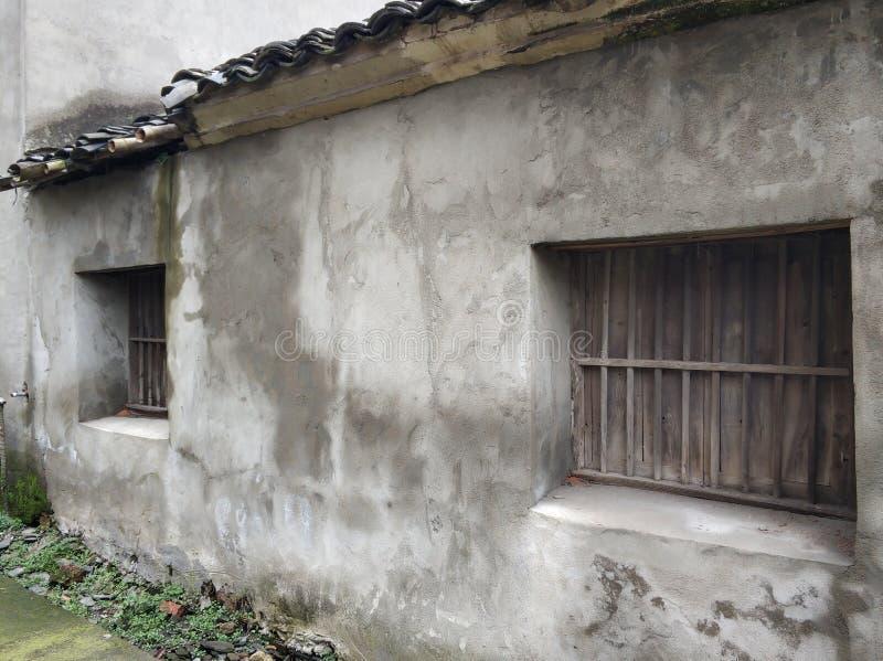 老房子背景在中国村庄 免版税库存图片