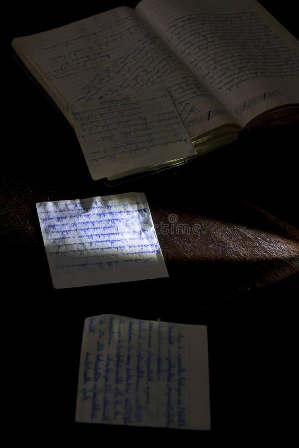 老手写的信件 免版税库存图片