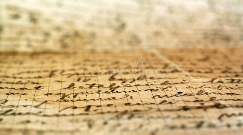老手写的信函 免版税图库摄影