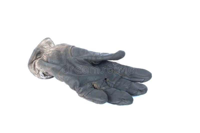 老手套皮革 库存图片