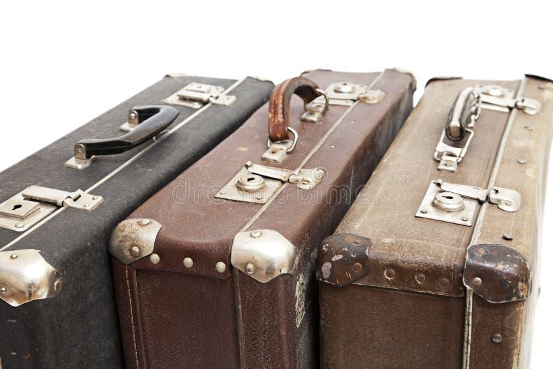 老手提箱旅行 库存图片