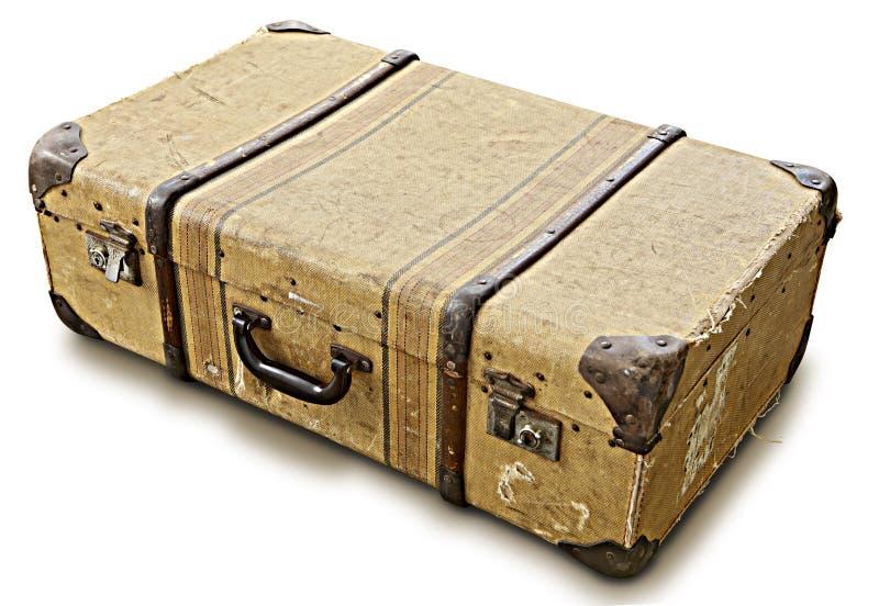 老手提箱 免版税库存图片