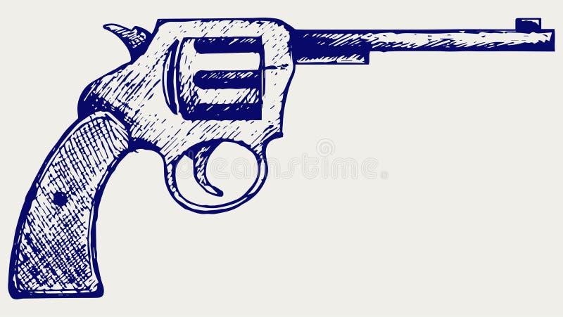 老手枪 向量例证