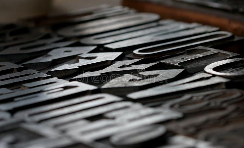 老打印集合类型 免版税库存图片