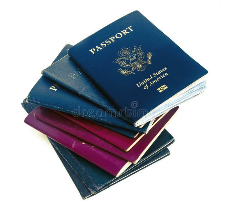 老护照 免版税库存图片
