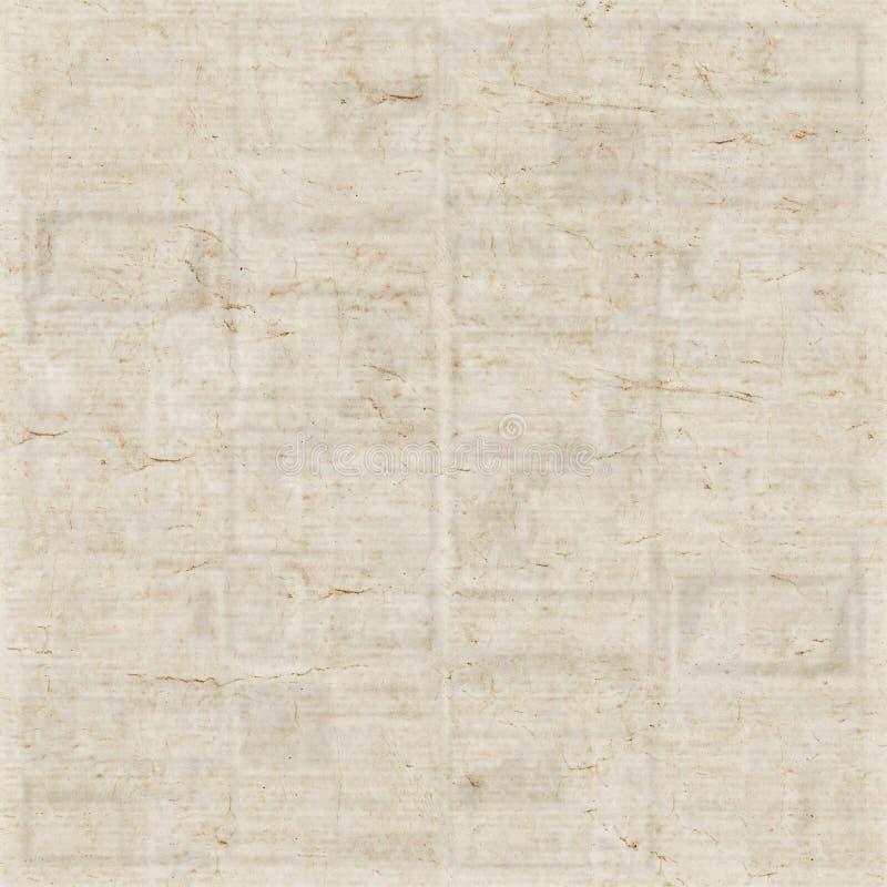 老报纸纹理背景 免版税库存照片