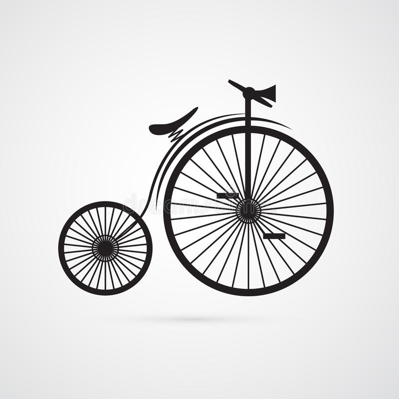 老抽象传染媒介,葡萄酒自行车,自行车 向量例证