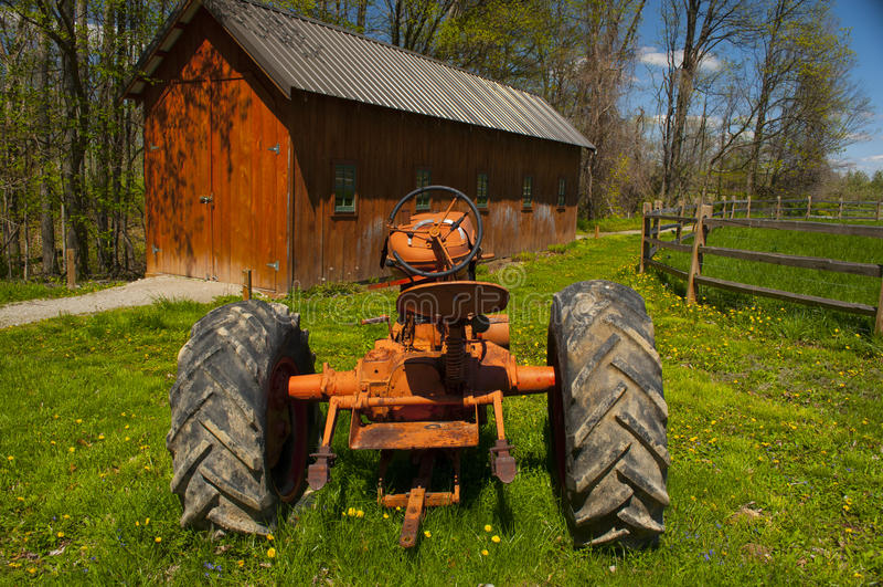 老拖拉机 库存照片