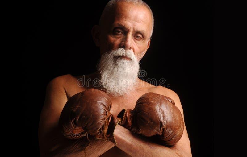 老拳击手 免版税库存照片