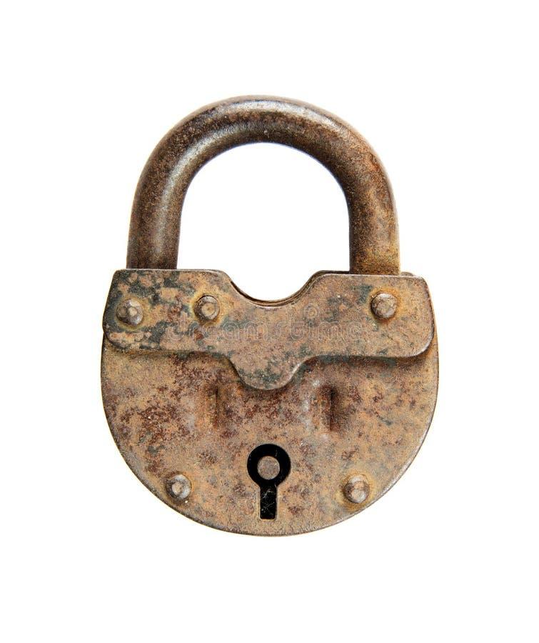 老挂锁 库存照片