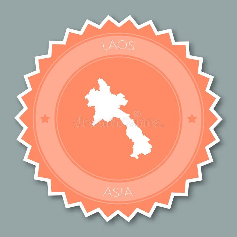 老挝人人` s平民主共和国的徽章 向量例证