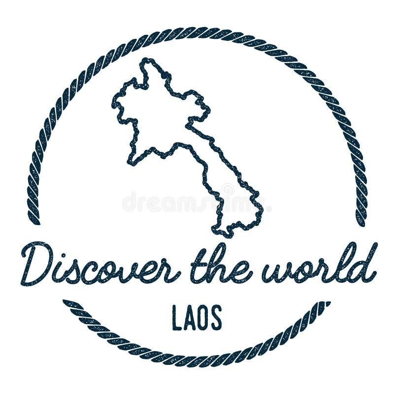老挝人人` s民主共和国地图概述 库存例证