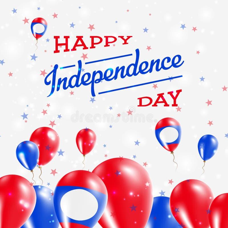 老挝人人` s民主共和国美国独立日 向量例证