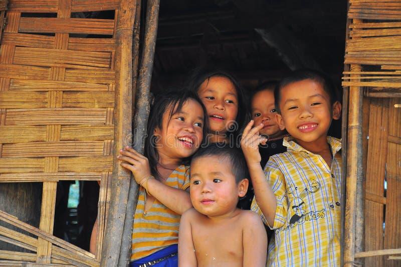 老挝人孩子 库存图片