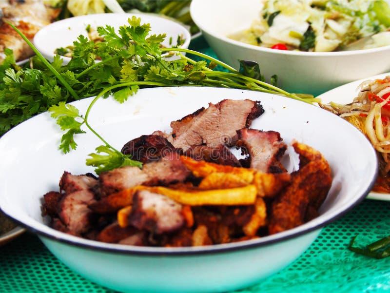 老挝人格栅食物万象,老挝 免版税库存照片