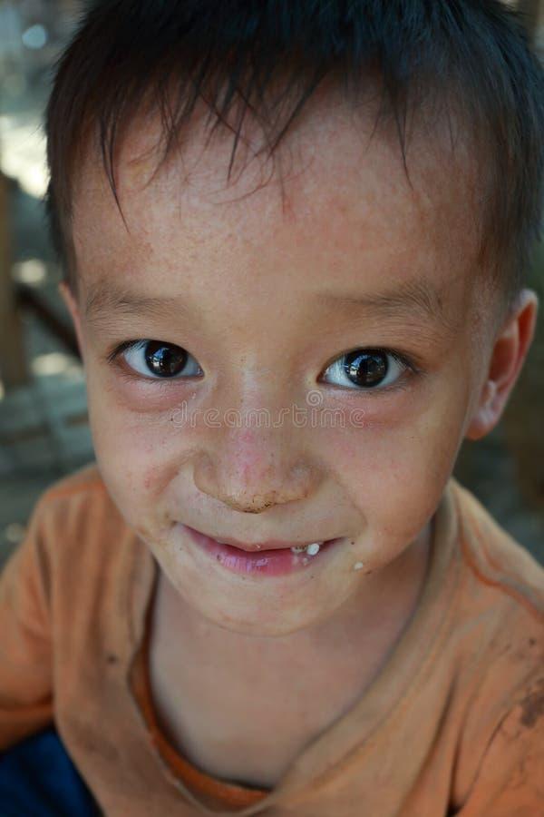 老挝人民民主共和国,琅勃拉邦- 5月7日:一smal 图库摄影