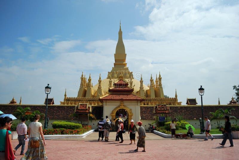 老挝人luang pra wat 免版税库存图片